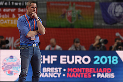 19.01.2018, Varazdin Arena, Varazdin, CRO, EHF EM, Herren, Deutschland vs Tschechien, Hauptrunde, Gruppe 2, im Bild Coach Jan Filip. // during the main round, group 2 match of the EHF men's Handball European Championship between Germany and Czech Republic at the Varazdin Arena in Varazdin, Croatia on 2018/01/19. EXPA Pictures © 2018, PhotoCredit: EXPA/ Pixsell/ Vjeran Zganec Rogulja<br /> <br /> *****ATTENTION - for AUT, SLO, SUI, SWE, ITA, FRA only*****