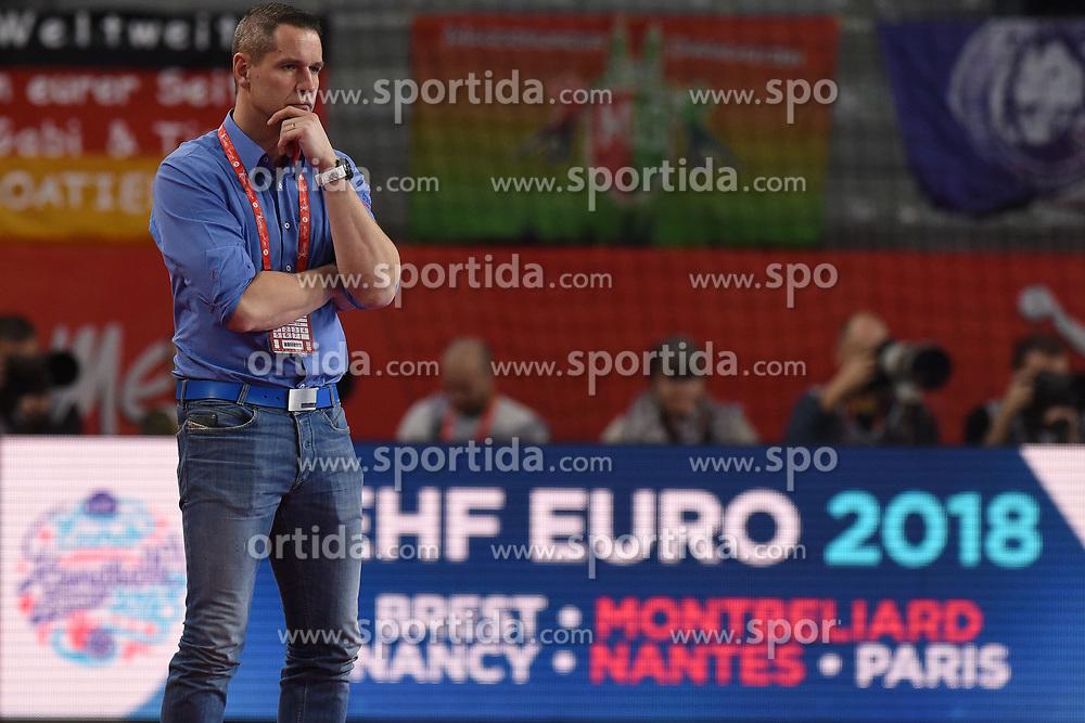 19.01.2018, Varazdin Arena, Varazdin, CRO, EHF EM, Herren, Deutschland vs Tschechien, Hauptrunde, Gruppe 2, im Bild Coach Jan Filip. // during the main round, group 2 match of the EHF men's Handball European Championship between Germany and Czech Republic at the Varazdin Arena in Varazdin, Croatia on 2018/01/19. EXPA Pictures © 2018, PhotoCredit: EXPA/ Pixsell/ Vjeran Zganec Rogulja<br /> <br /> *****ATTENTION - for AUT, SLO, SUI, SWE, ITA, FRA only*****