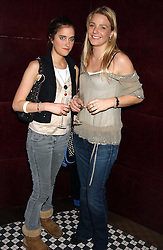 Left to right, VIOLET VON WESTENHOLTZ and the HON.KIRSTY HAMILTON-SMITH at a party to launch the Frankie's TLC Card and the TLC Clubcard held at Frankie's Knightsbridge, 3 Yeomans Row, London SW3 on 1st February 2006.<br /><br />NON EXCLUSIVE - WORLD RIGHTS
