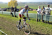 Belgium, November 1 2015:  GB's Ian Field warms up on the parcours during the  Koppenbergcross 2015 cyclocross event.<br />