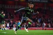 Sporting Lisbon Forward Nani (17) warms-up ahead of the Europa League group stage match between Arsenal and Sporting Lisbon at the Emirates Stadium, London, England on 8 November 2018.