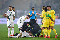 January 30, 2019 - Nantes, France - Blessure de Kevin Monnet Paquet  (Credit Image: © Panoramic via ZUMA Press)