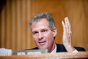 Jul 29, 2010 - Washington, District of Columbia, U.S., -.Senator SCOTT BROWN (R-MA) questions John Metzler, former superintendent of Arlington National Cemetery during a Senate Homeland Security and Governmental Affairs Committee hearing about mismanagement  at Arlington National Cemetery. (Credit Image: © Pete Marovich/ZUMA Press)