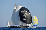 France Saint - Tropez October 2013, Classic yachts racing at the Voiles de Saint - Tropez<br /> <br /> C,/241,ASCHANTI ,35,GOELETTE MARCONI/1954,HENRI GRUBER