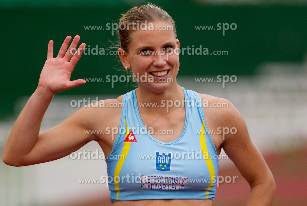 Marina Tomic after the women 100 m Hurdles  at Slovenian National Championships in athletics 2010, on July 17, 2010 in Velenje, Slovenia. (Photo by Vid Ponikvar / Sportida)