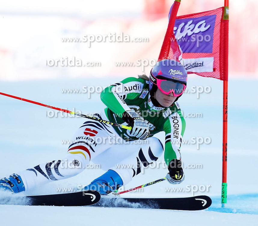28.12.2013, Hochstein, Lienz, AUT, FIS Weltcup Ski Alpin, Damen, Riesenslalom 2. Durchgang, im Bild Maria Hoefl-Riesch (GER) // Maria Hoefl-Riesch of (GER) during ladies Giant Slalom 2 nd run of FIS Ski Alpine Worldcup at Hochstein in Lienz, Austria on 2013/12/28. EXPA Pictures © 2013, PhotoCredit: EXPA/ Oskar Höher