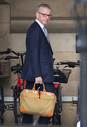 © Licensed to London News Pictures. 03/09/2019. London, UK. Chancellor of the Duchy of Lancaster Michael Gove walks to The House of Commons. Parliament is returning from the summer recess today with MPs expected to try to stop a no-deal Brexit. Prime Minister Boris Johnson has threatened to hold a snap election if the legislation is passed. Photo credit: Peter Macdiarmid/LNP