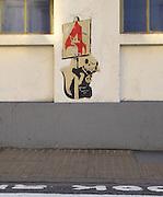 Banksy Street Artist.Peace Rat Charterhouse St Barbican, Smithfield. EC1 London..PIC JAYNE RUSSELL. 27.05.2008