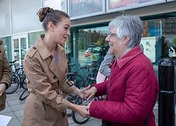 Judges photocall at Edinburgh International Film Festival<br /> <br /> Pictured: Outlander star Sophie Skelton meets fans