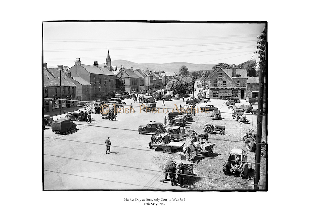 Market day at Bunclody, County Wexford.<br />