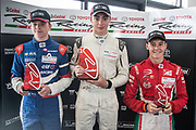 Left to right, Robert Schwartzman, 2nd, Clement Novalak 1st, Marcus Armstrong 3rd,  in Race 2, Round 3 of the 2018 Castrol Toyota Racing Series at Hampton Downs, Sunday January 28, 2018.<br /> Copyright photo: Bruce Jenkins / www.photosport.nz