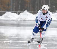 2018-11-11 | Jönköping, Sweden: Åtvidaberg BK (7) Erik Skoogh during the game between Jönköping Bandy IF and Åtvidaberg BK at Råslätts IP ( Photo by: Marcus Vilson | Swe Press Photo )<br /> <br /> Keywords: Råslätts IP, Jönköping, Bandy, Div. 1 Södra, Jönköping Bandy IF, Åtvidaberg BK, Erik Skoogh
