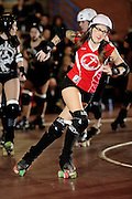 OKC Victory Dolls roller derby match against the Arkansas River City Roller Girls