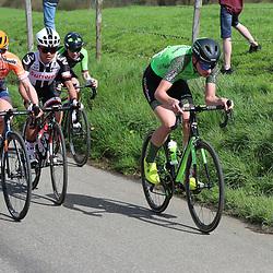 15-04-2018: Wielrennen: Amstel Gold race women: Valkenburg<br />Riejanne Markus, Megan Gaunier, Coryn Rivera