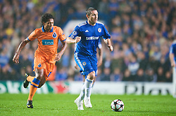 LONDON, ENGLAND - TUESDAY, SEPTEMBER 15th, 2009: Chelsea's Frank Lampard and Porto's Fredy Guarin during the UEFA Champions League Group D match at Stamford Bridge. (Photo by Chris Brunskill/Propaganda)