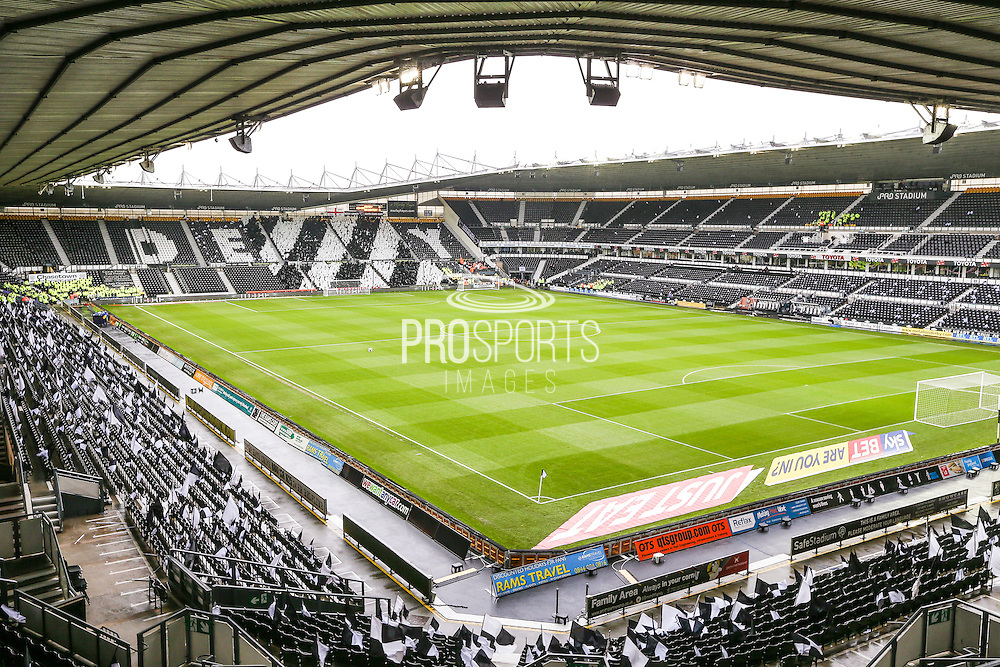 The iPro Stadium during the Sky Bet Championship match between Derby County and Brighton and Hove Albion at the iPro Stadium, Derby, England on 12 December 2015. Photo by Shane Healey.