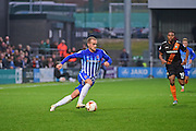 Hartlepool United striker Lewis Alessandra (15) on the break during the EFL Sky Bet League 2 match between Barnet and Hartlepool United at Underhill Stadium, London, England on 29 October 2016. Photo by Jon Bromley.