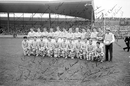 All Ireland Senior Football Championship Final, Dublin v Galway, 22.09.1963, 09.23.1963, 22nd September 1963, Dublin 1-9 Galway 0-10,..Dublin Team.Names of identified team members .Back Row Left to right  .John (sean) Timmons, .W Casey, M Kissane, .L Foley, L Hickey, (10th from left ) P Flynn,..Front Row Left to right.D McKane, M Whelan, P Holden, N Fox, D Foley (captain), G Davey, B Mac Donald, S Behan, (10th from left) D Ferguson,..Unidentified  team members.Substitutes F McPhillips, C Kane, P Downey, A Donnelly and E Breslin,...