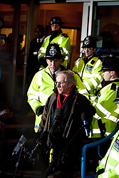 ©London News Picures. Director Ken Loach leaves the City of Westminster Magistrates Court on December 14, 2010where Julian Assanged attended an extradition hearing.Photo credit should read Fuat Akyuz/London News Pictures.