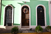Historic traditional home in Old San Juan, Puerto Rico.