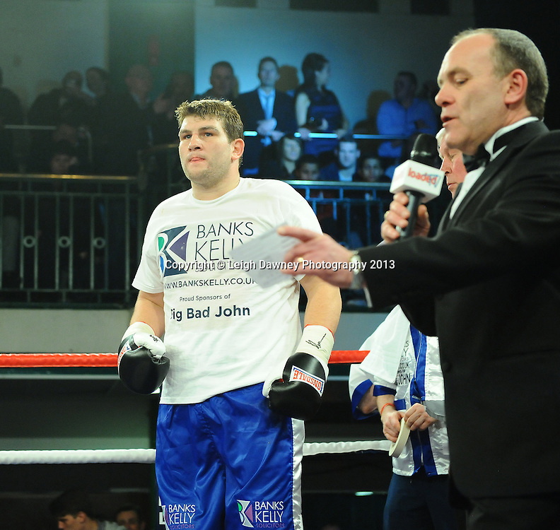 John McDermott defeats Matt Skelton for the English Heavyweight Title plus undercard at York Hall, Bethnal Green,London on 15th March 2013. © Leigh Dawney Photography 2013.