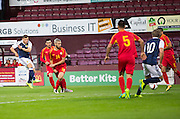 Scotland's Ryan Fraser fires ins a shot during Scotland Under-21 v FYR Macedonia,  UEFA Under 21 championship qualifier  at Tynecastle, Edinburgh. Photo: David Young<br /> <br />  - &copy; David Young - www.davidyoungphoto.co.uk - email: davidyoungphoto@gmail.com