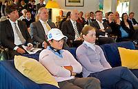 VLAARDINGEN - Persconferentie Ladies Open. Op de voorgrond Christel Boeljon (r) en Marjet van der Graaff. COPYRIGHT KOEN SUYK