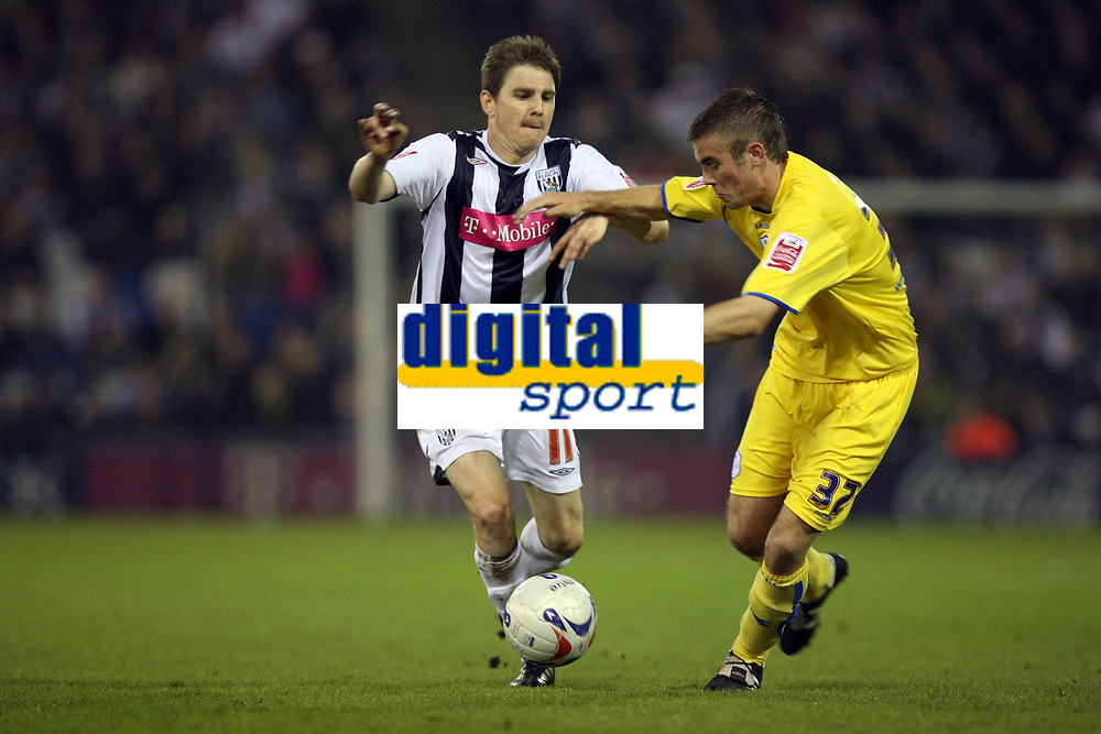 Photo: Rich Eaton.<br /> <br /> West Bromwich Albion v Sheffield Wednesday. Coca Cola Championship. 13/04/2007. West Broms Zoltan Gera left and Wednesdays Tommy Spurr go for the ball