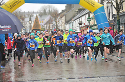 Young Flyers .... the young competitors starting off in the U12's Streets of Westport run on New Year's Day.<br /> Pic Conor McKeown