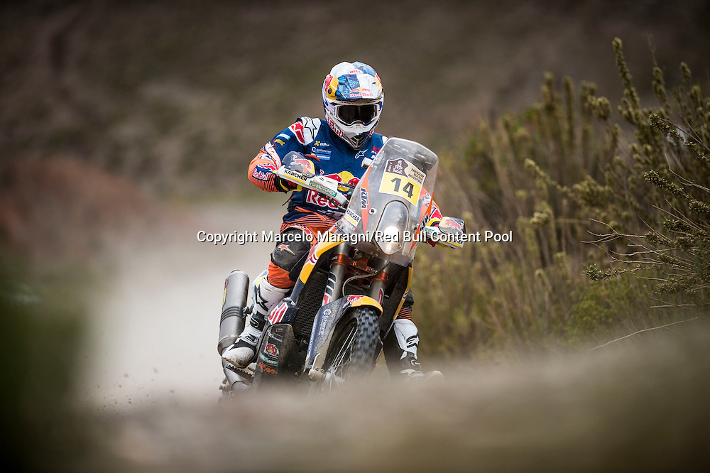 Sam Sunderland (GRB) of Red Bull KTM Factory Team races during stage 05 of Rally Dakar 2017 from Tupiza, to Oruro, Bolivia January 06, 2017 // Marcelo Maragni/Red Bull Content Pool // P-20170106-00008 // Usage for editorial use only // Please go to www.redbullcontentpool.com for further information. //