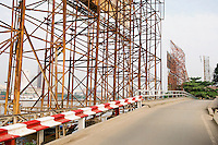 Billboard Scaffolding Along Road