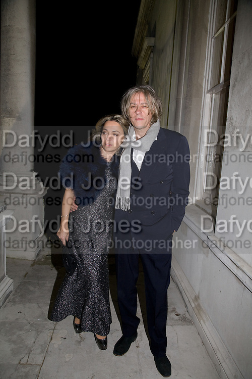 JEANNE MARINE; SIR BOB GELDOF, Nicky Haslam party for Janet de Botton and to celebrate 25 years of his Design Company.  Parkstead House. Roehampton. London. 16 October 2008.  *** Local Caption *** -DO NOT ARCHIVE-© Copyright Photograph by Dafydd Jones. 248 Clapham Rd. London SW9 0PZ. Tel 0207 820 0771. www.dafjones.com.
