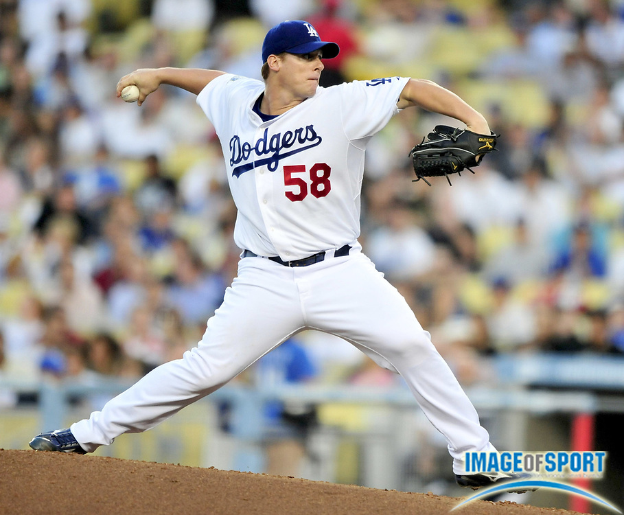 Jul 30, 2008; Los Angeles, CA, USA; Los Angeles Dodgers starter Chad Billingsley (58) pitches during 4-0 victory over the San Francisco Giants at Dodger Stadium. Mandatory Credit: Kirby Lee/Image of Sport-US PRESSWIRE