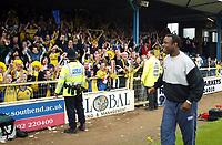 Photo. Chris Ratcliffe<br /> Digitalsport<br /> NORWAY ONLY<br /> Southend Utd v Torquay Utd. Nationwide Division 3. 08/05/2004<br /> Leroy Rosenior celebrates promotion to Div 2.