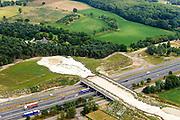Nederland, Noord-Brabant, Gemeente Cranendonck, 26-06-2014; Natuurbrug Weerterbergen, over A2 en spoorlijn Eindhoven - Weert.<br /> luchtfoto (toeslag op standaard tarieven);<br /> aerial photo (additional fee required);<br /> copyright foto/photo Siebe Swart.