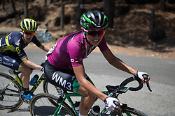 Katarzyna Niewiadoma (POL) of WM3 Pro Cycling Team digs deep on the final climb of Stage 10 of the Giro Rosa - a 124 km road race, starting and finishing in Torre Del Greco on July 9, 2017, in Naples, Italy. (Photo by Balint Hamvas/Velofocus.com)