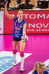 27-11-2016 ITA: Gorgonzola Igor Volley Novara - Nordmeccanica Modena, Novara<br /> Nova wint in drie sets van Modena / Judith Pietersen #8
