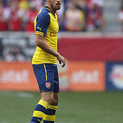 Aaron Ramsey, Arsenal, in action during the New York Red Bulls Vs Arsenal FC,  friendly football match for the New York Cup at Red Bull Arena, Harrison, New Jersey. USA. 26h July 2014. Photo Tim Clayton