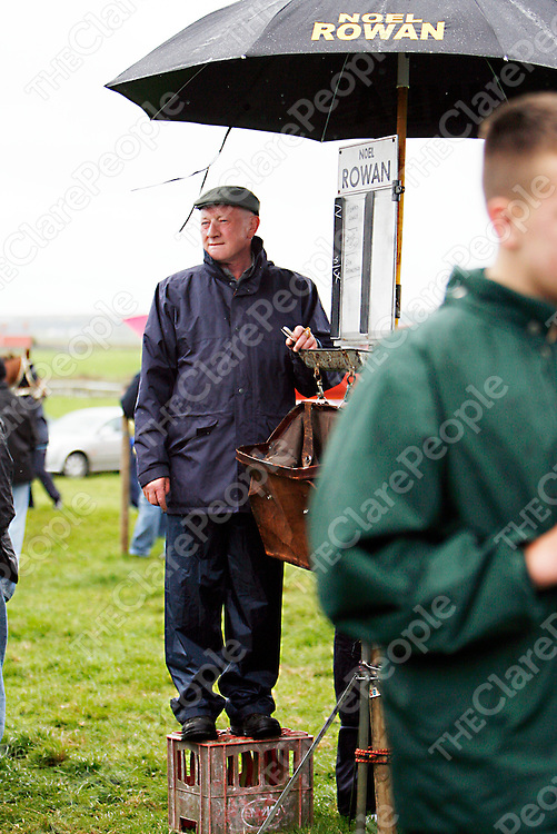 A bookie checks out the other odds at the Lisdoonvarna races over the weekend.<br />