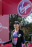 Amy Willerton (Miss Universe) Greenwich Park ahead of the start of The Virgin Money London Marathon 2014 on Sunday 13 April 2014<br /> Photo: Neil Turner/Virgin Money London Marathon<br /> media@london-marathon.co.uk