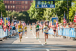 Boston Athletic Association 10K road race: Jen Rhines approaches finish line