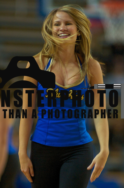 Delaware Cheerleader during a game between The Lady Blue Hens and The Lady Retrievers at the The Bob Carpenter Center In Newark.<br /> <br /> The Lady Hens is 1-0 and will face Big East power Villanova Next.