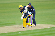Sam Northeast of Hampshire batting during the Royal London One Day Cup match between Hampshire County Cricket Club and Middlesex County Cricket Club at the Ageas Bowl, Southampton, United Kingdom on 23 April 2019.
