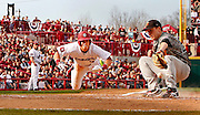 USC's Chase Vergason dives to score the Gamecocks first run on a wild pitch in the bottom of the third inning during USC's home opener against VMI at Carolina Stadium, Friday, February 17, 2012.