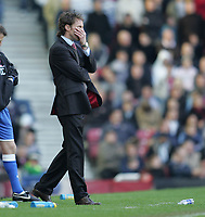 Photo: Lee Earle.<br /> West Ham United v Middlesbrough. The Barclays Premiership. 31/03/2007.Middlesbrough manager Gareth Southgate looks dejected as they trail to West Ham.