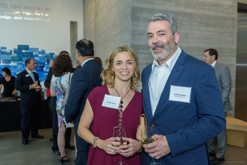 Jennifer and Brandon Rauch at the 10-year anniversary celebration of Republic Bank's Private Banking and Business Banking divisions Wednesday, May 17, 2017, at the Speed Art Museum in Louisville, Ky. (Photo by Brian Bohannon)