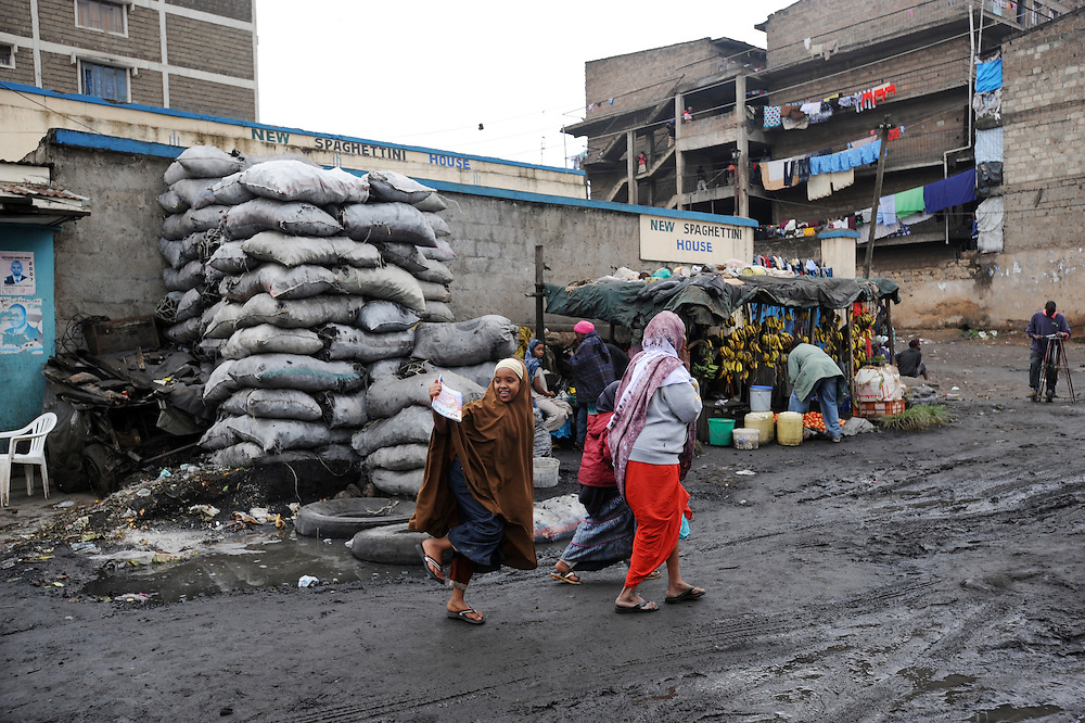 The Somali suburb of Eastleigh in Nairobi, Kenya 6/7/2008