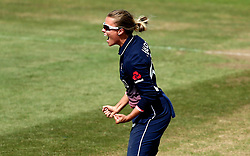 Alex Hartley of England Women celebrates after taking the wicket of Meg Lanning of Australia Women - Mandatory by-line: Robbie Stephenson/JMP - 09/07/2017 - CRICKET - Bristol County Ground - Bristol, United Kingdom - England v Australia - ICC Women's World Cup match 19