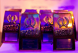 Trophies at Sporto Dinner with Sporto Awards 2013 Ceremony during sports marketing and sponsorship conference Sporto 2013, on November 21, 2013 in Hotel Slovenija, Congress centre, Portoroz / Portorose, Slovenia. Photo by Vid Ponikvar / Sportida