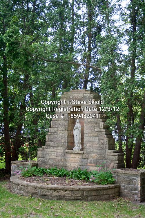 Shrine of St Mary on the beautiful St Catherine's Catholic University campus. St Paul Minnesota MN USA